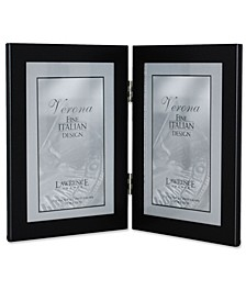 "Black Hinged Double Metal Picture Frame - 4"" x 6"""