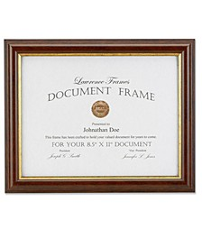 "185181 Walnut and Gold Document Picture Frame - 8.5"" x 11"""