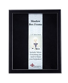 "Lawrence Frames 790011 Black Wood Shadow Box Picture Frame - 11"" x 14"""