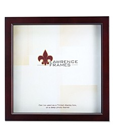 "795188 Espresso Wood Treasure Box Shadow Box Picture Frame - 8"" x 8"""