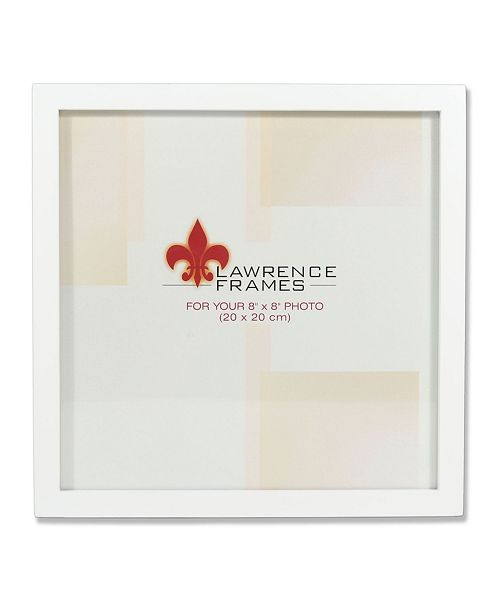 "Lawrence Frames 755888 White Wood Picture Frame - 8"" x 8"""