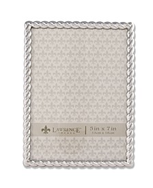 "710057 Silver Metal Rope Picture Frame - 5"" x 7"""
