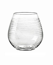 Graffiti Stemless Wine Glasses, Set Of 4