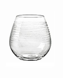 Qualia Glass Graffiti Stemless Wine Glasses, Set Of 4