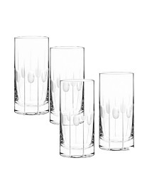 Qualia Glass Gulfstream Highball Glasses, Set Of 4