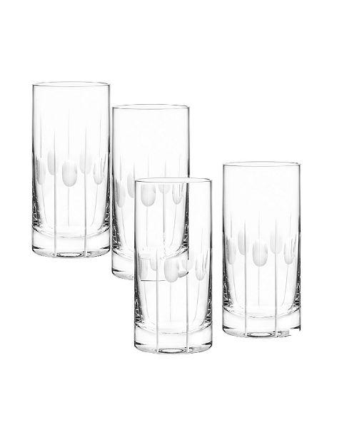 Qualia Glass Gulfstream Highball Glasses, Set Of 4