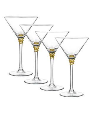 Artland Reflections 8 Ounce Martini Glass Set of 4