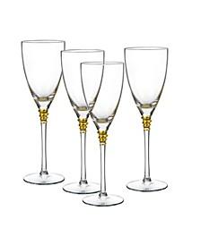 Helix Gold Goblets, Set Of 4