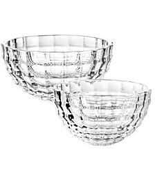 """Qualia Glass Skylight 6"""" Party Bowl, Set Of 2"""