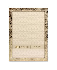 """Lawrence Frames Gold Metal Picture Frame with Linen Pattern - 5"""" x 7"""""""