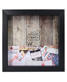 "Black Shadow Box Ticket Holder - 10"" x 10"""