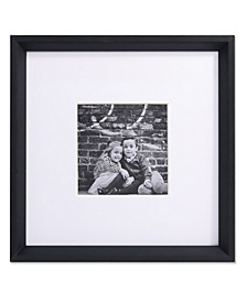 "Wide Border Matted Frame - Gallery Black 10x10 - 5"" x 5"""