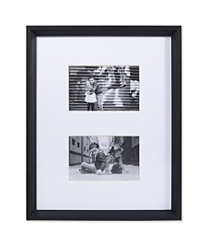 "Lawrence Frames Wide Border Double Matted Frame - Gallery Black 11"" x 14"" - 4"" x 6"""