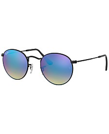 Ray-Ban Sunglasses, RB3447 ROUND FLASH LENSES