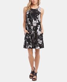 Karen Kane Chloe Floral-Print A-Line Dress