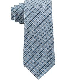 Calvin Klein Men's Shing Check Silk Tie