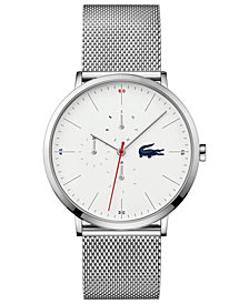 Lacoste Men's Moon Stainless Steel Mesh Bracelet Watch 40mm