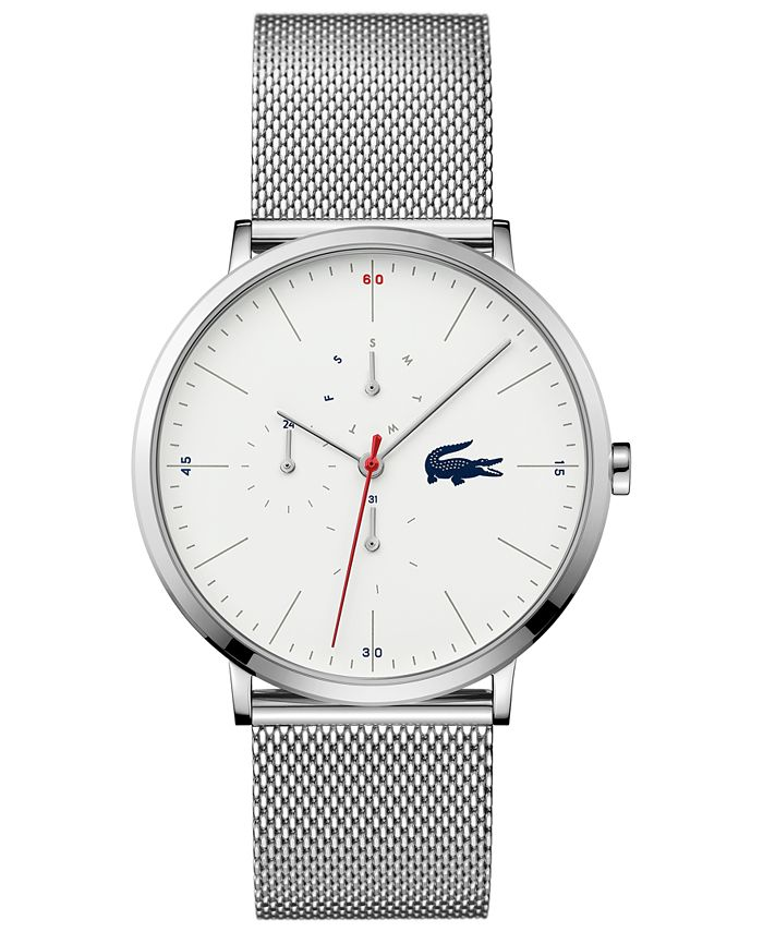 Lacoste - Men's Moon Stainless Steel Mesh Bracelet Watch 40mm