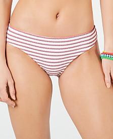 Roxy Juniors' Chasing Love Printed Textured Bikini Bottoms