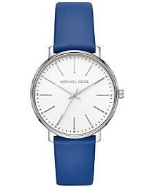 Women's Pyper Blue Leather Strap Watch 38mm