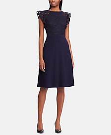 Lauren Ralph Lauren Lace-Bodice Dress