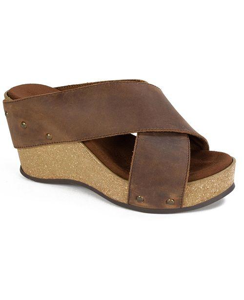 White Mountain Cuttler Wedge Sandals