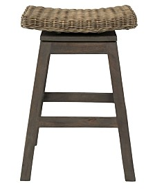 East At Main's Canton Rattan Counter Stool
