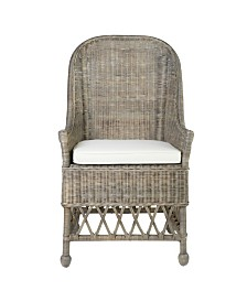East At Main's Marietta Rattan Accent Chair