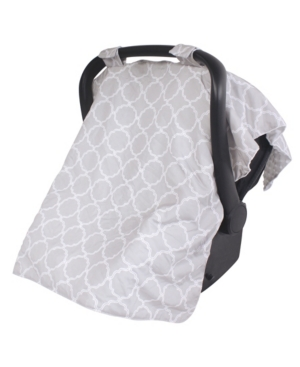 Hudson Baby Reversible Car Seat Canopy, One Size In Gray