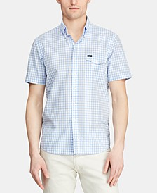 Men's Classic Fit Cotton Gingham Shirt