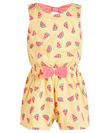 First Impressions Baby Girls Watermelon-Print Cotton Romper, Created for Macy's