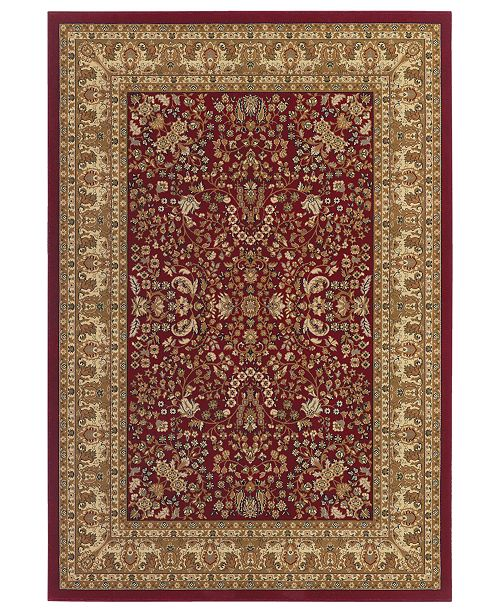 Couristan CLOSEOUT! Rugs Tamena TAM182 Mashad Red