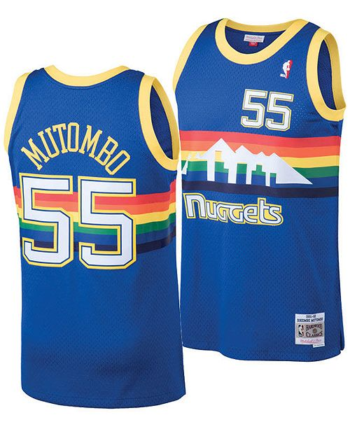 more photos 1e9fa ef599 Mitchell & Ness Big Boys Dikembe Mutombo Denver Nuggets ...