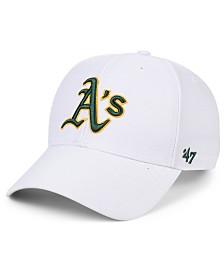 '47 Brand Oakland Athletics White MVP Cap