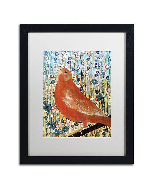 """Trademark Global Sylvie Demers 'Serenade' Matted Framed Art - 16"""" x 20"""" x 0.5"""""""