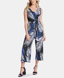 Karen Kane Printed Cropped Jumpsuit