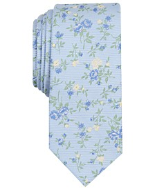 Bar III Men's Collins Floral Skinny Tie, Created for Macy's