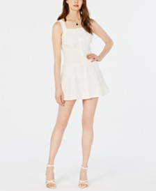 Kendall + Kylie Eyelet Smocked-Waist Dress