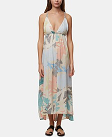 Juniors' Kaitlyn Printed Maxi Dress