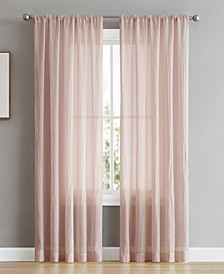 "Rosa 104"" x 96"" Backtab and Rod Pocket Faux Linen Window Curtain Pairs"