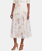73d002e2be Lauren Ralph Lauren Tiered Floral-Print Peasant Skirt