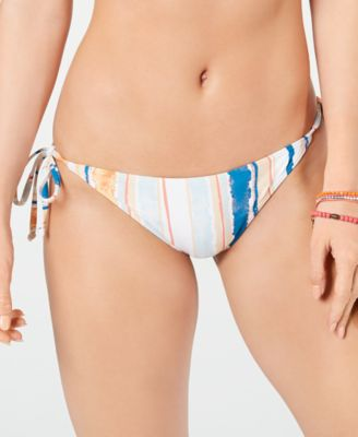 Juniors' Printed Side-Tie Bikini Bottoms