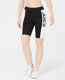 Juicy Couture Colorblocked Graphic Biker Shorts