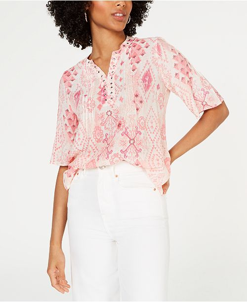 NY Collection Petite Embellished Top