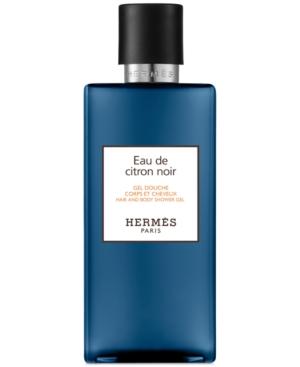 HERMES Eau de Citron Noir Hair & Body Shower Gel, 6.7-oz.