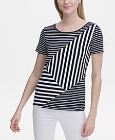 Short-Sleeve Multi-Stripe T-Shirt