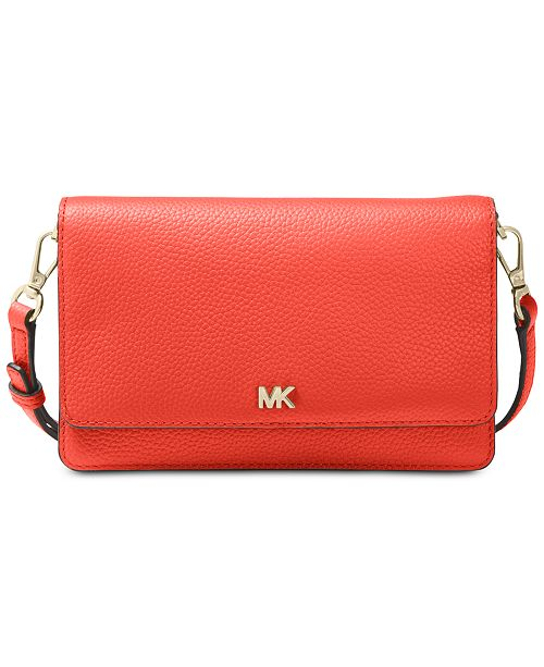38052d4d40ee Michael Kors Pebble Leather Phone Crossbody Wallet & Reviews ...