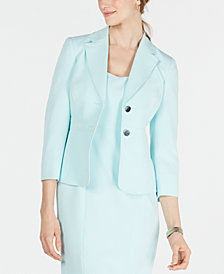 Kasper Stretch Two-Button Jacket