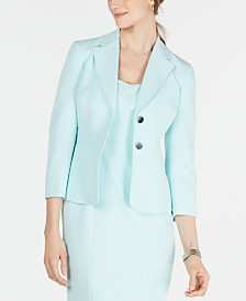 Kasper Petite Stretch Two-Button Jacket