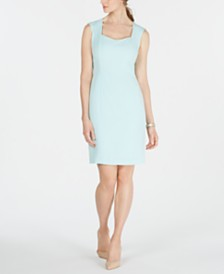 Kasper Back-Slit Sheath Dress
